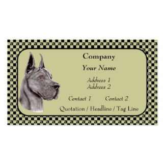 Blacl Great Dane Show Colors Business Cards