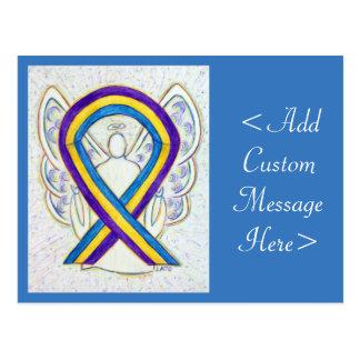 Bladder Cancer Awareness Ribbon Angel Postcard