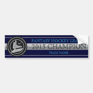 Blades Fantasy Hockey Champion Bumper Sticker