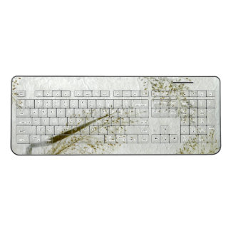 Blades of grass photo of Japanese rice paper Wireless Keyboard