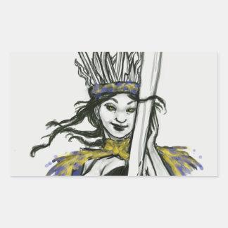 Blades Queen Rectangular Sticker