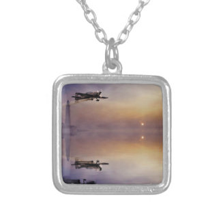Blades Silver Plated Necklace