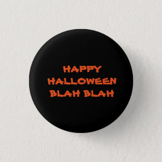 blah blah black halloween buttons