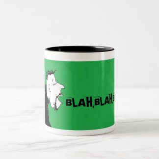 BLAH,BLAH,BLAH, CUP!! Two-Tone COFFEE MUG