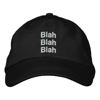 Blah, Blah, Blah Personalized Adjustable Hat