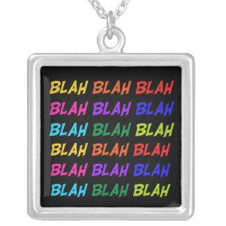 Blah Blah Blah Silver Plated Necklace