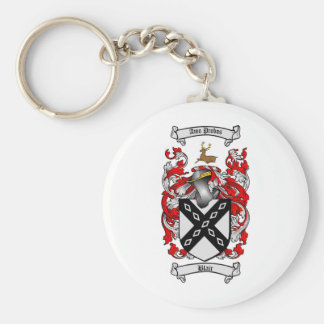BLAIR FAMILY CREST -  BLAIR COAT OF ARMS BASIC ROUND BUTTON KEY RING
