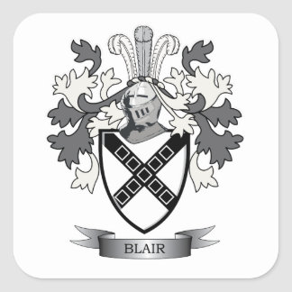 Blair Family Crest Coat of Arms Square Sticker