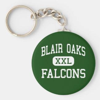 Blair Oaks - Falcons - High - Jefferson City Basic Round Button Key Ring
