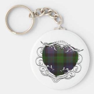 Blair Tartan Heart Key Ring
