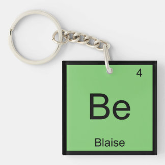 Blaise Name Chemistry Element Periodic Table Key Ring