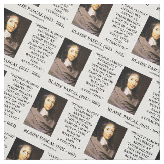 Blaise Pascal Arrive At Beliefs Basis Attractive Fabric
