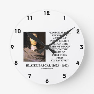 Blaise Pascal Arrive At Beliefs Basis Attractive Round Clock