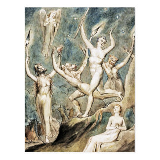 Blake: Comus with His Revellers Postcard
