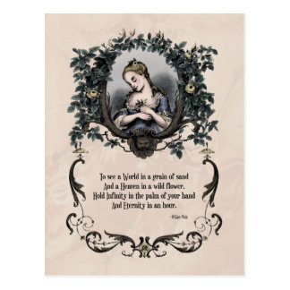 "Blake ""To See a World"" Victorian Postcard"