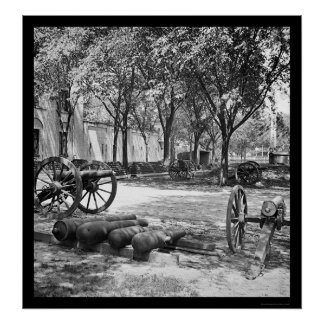 Blakely Guns and Ammunition in Charleston 1865 Poster
