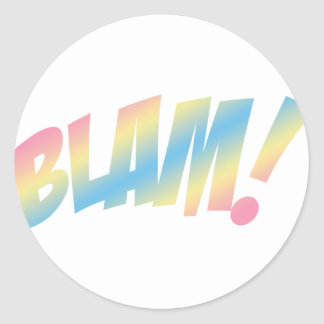 Blam! Round Sticker