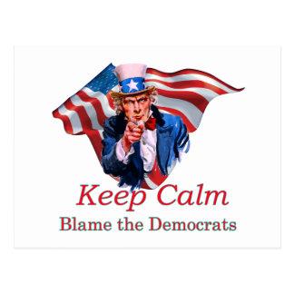 Blame the Democrats Postcard