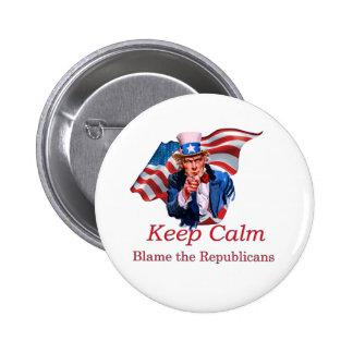 Blame the Republicans 6 Cm Round Badge