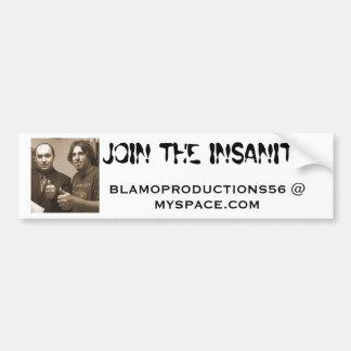 BLAMO PRODUCTIONS BUMPER STICKER