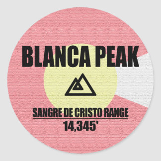 Blanca Peak Round Sticker