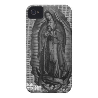 BLANCO Y NEGRO VIRGEN DE GUADALUPE CUSTOMIZABLE Case-Mate iPhone 4 CASES