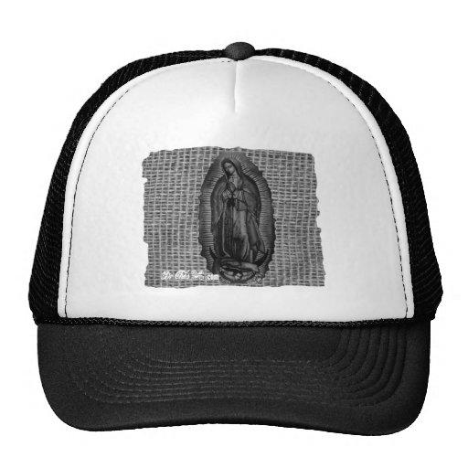 BLANCO Y NEGRO VIRGEN DE GUADALUPE CUSTOMIZABLE HATS