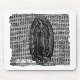 BLANCO Y NEGRO VIRGEN DE GUADALUPE CUSTOMIZABLE MOUSE PAD