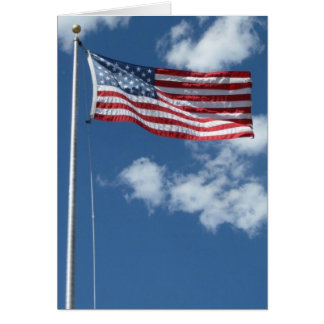 Blank American Flag Greeting Card