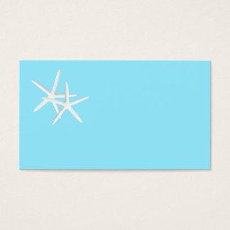 Blank Aqua Starfish Place Cards