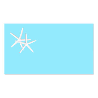 Blank Aqua Starfish Place Cards Pack Of Standard Business Cards