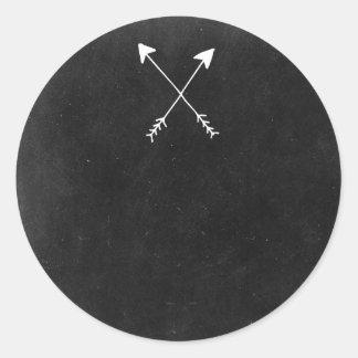 Blank Arrows Chalkboard - Customizable Packaging Round Sticker