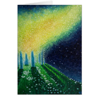 Blank Art greeting card, original art stonehenge Card