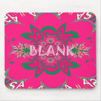 Blank baby vivid pink floral purple shade monogram mouse pad