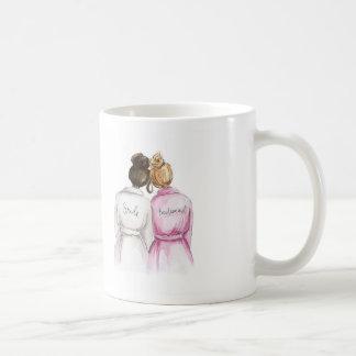 BLANK BACK Mug Dark Br Bun Bride Dark Bl Bun Maid