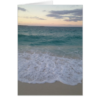 Blank Bahamas Sunset Greeting Card