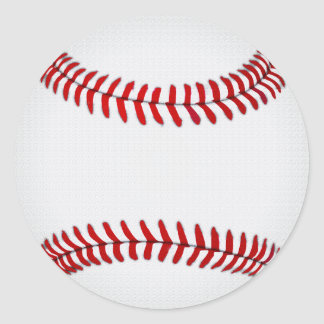 Blank Baseball Stickers, Round, Large or Small Round Sticker