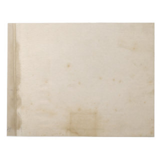 Blank Beige Distressed Antique Stained Paper Notepad