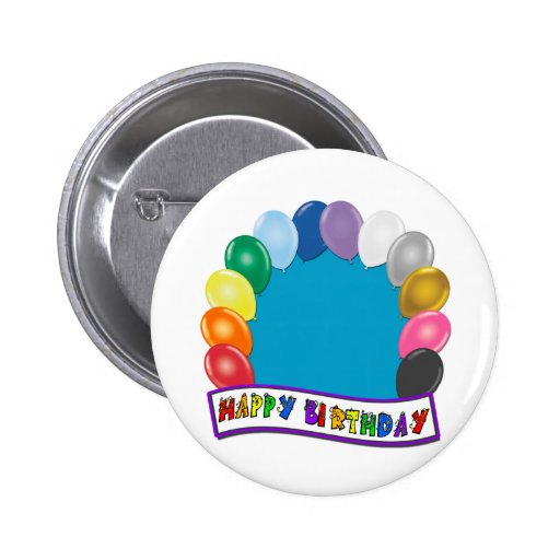 Blank Birthday Design Button