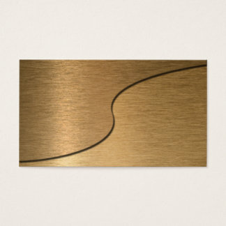 Blank Bronze Yin Yang Business Card