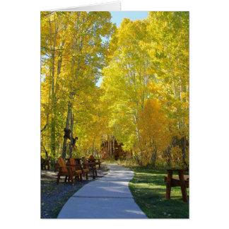 Blank Card, Aspen Trees, Autumn Vertical Card