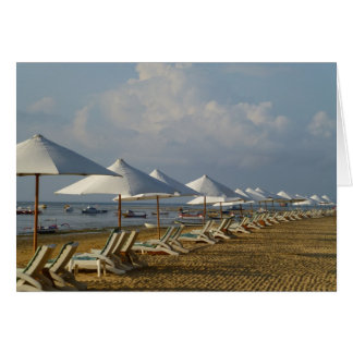 Blank Card Beach Umbrellas