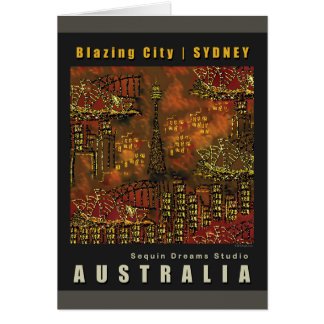Blank Card | Blazing City | SYDNEY
