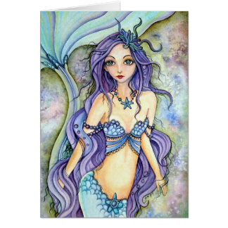 Blank Card - Dream of Purple mermaid
