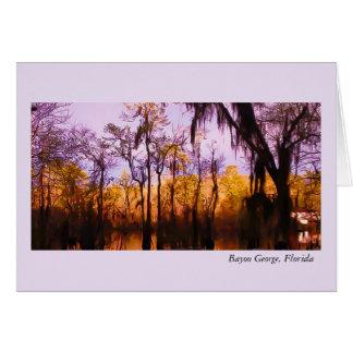 Blank Card Sunset at Bayou George, Fl.
