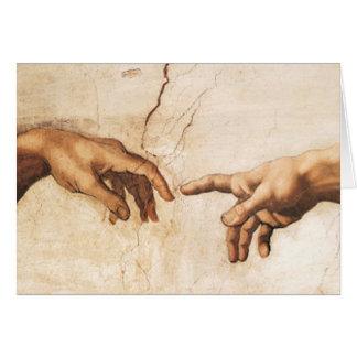 Blank Card - The Creation of Adam