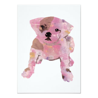 blank card with a french bull dog