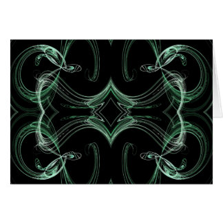 Blank Card with Fractal Background