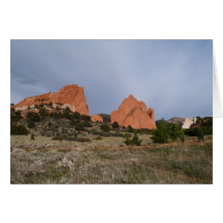 Blank Card with Garden of the Gods Image