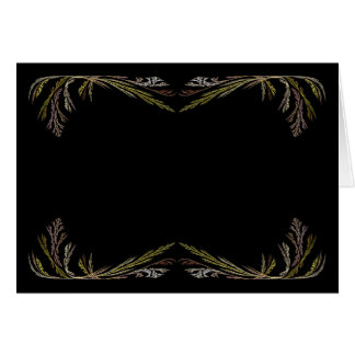 Blank Card with Gold & Black Fractal Border